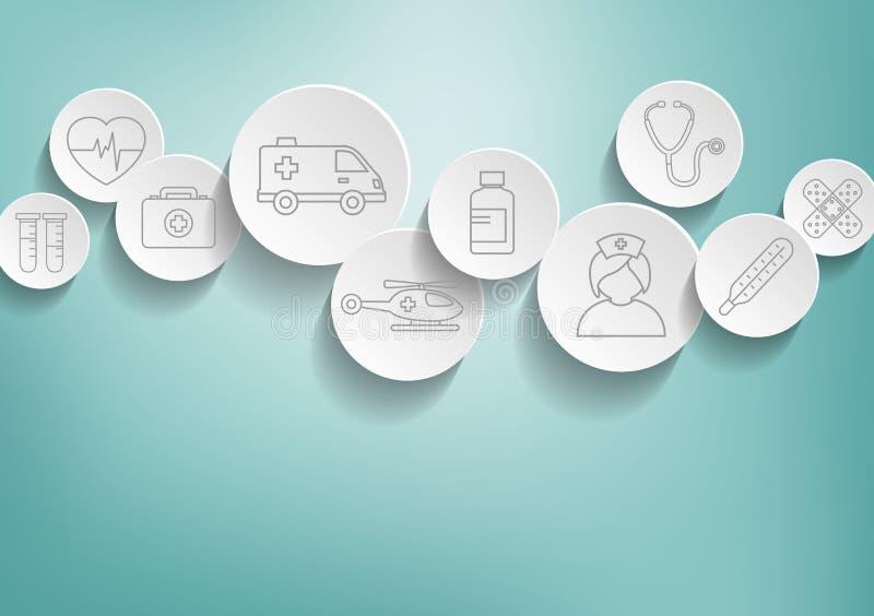Priorità bassa medica illustrazione vettoriale