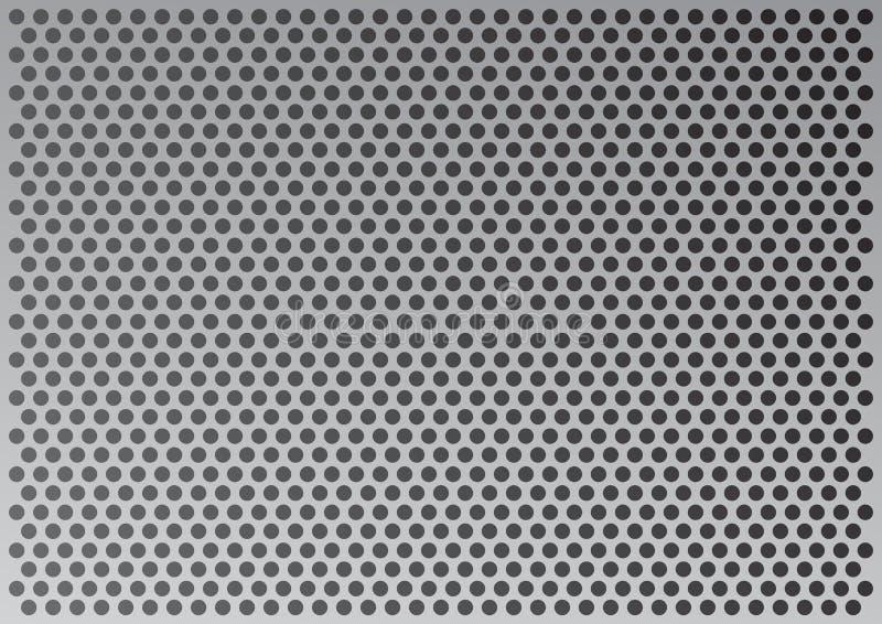 Priorità bassa metallica illustrazione vettoriale