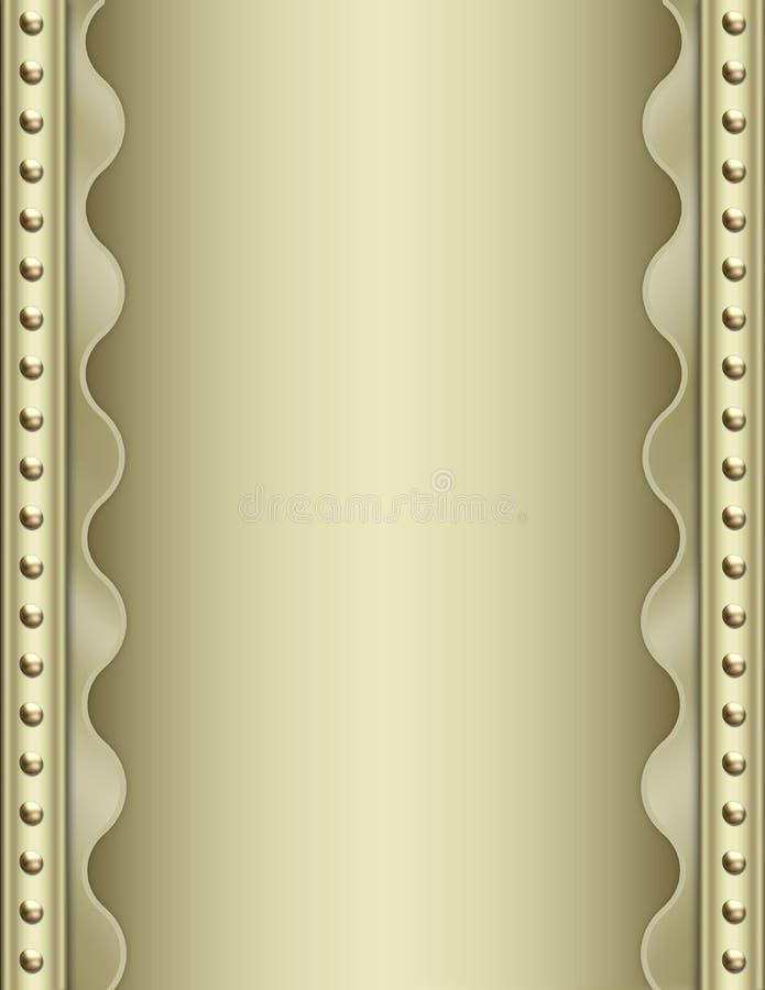 Priorità bassa metallica di art deco illustrazione di stock