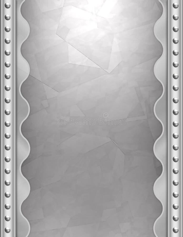 Priorità bassa metallica di art deco illustrazione vettoriale