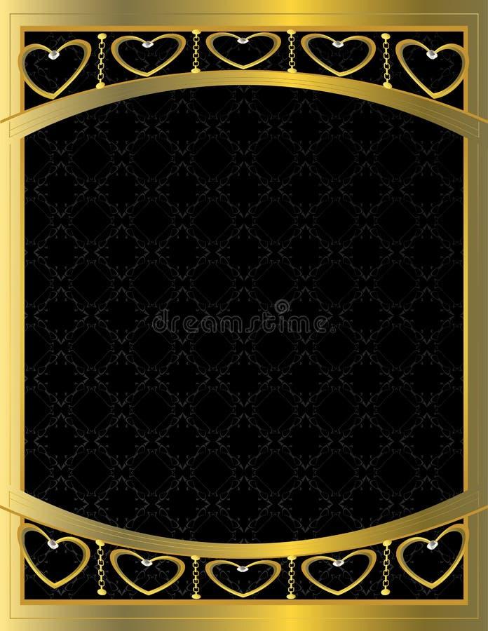 Priorità bassa modellata cuore 10 dell'oro royalty illustrazione gratis