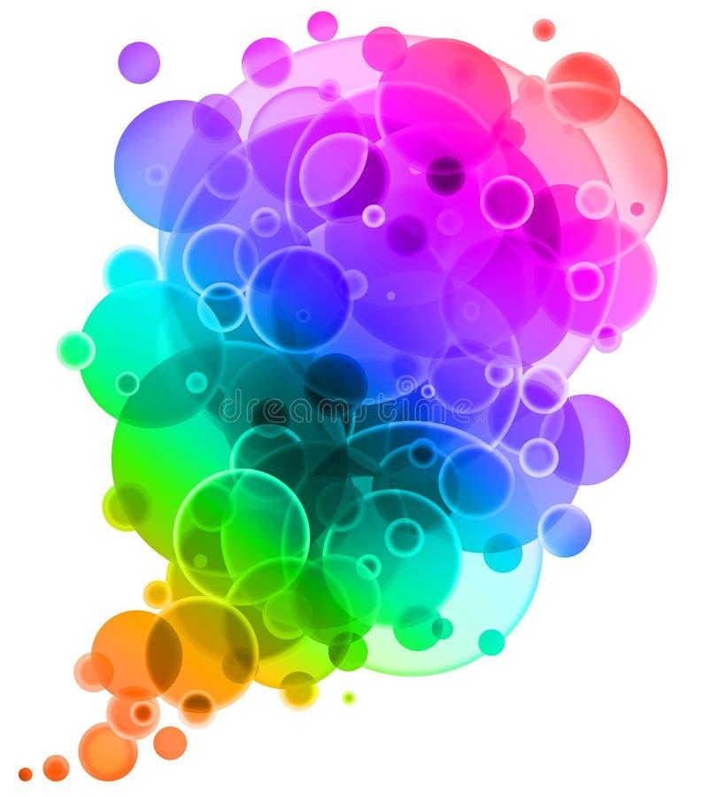 Priorità bassa multicolore astratta. illustrazione di stock