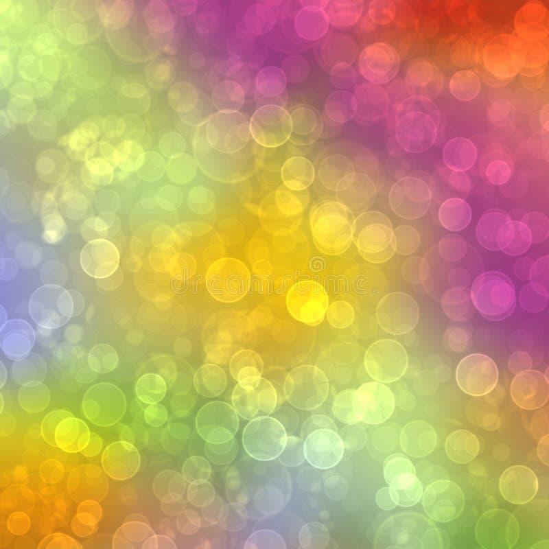 Priorità bassa multicolore astratta con il bokeh della sfuocatura fotografia stock libera da diritti