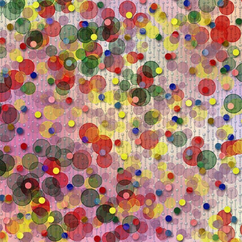 Priorità bassa multicolore astratta con il bokeh della sfuocatura illustrazione di stock
