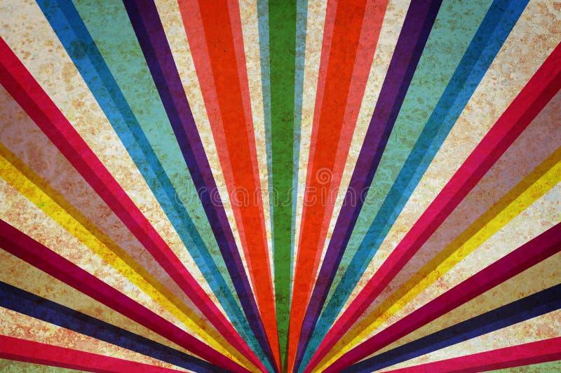 Priorità bassa multicolore del grunge dei raggi di sole. fotografia stock