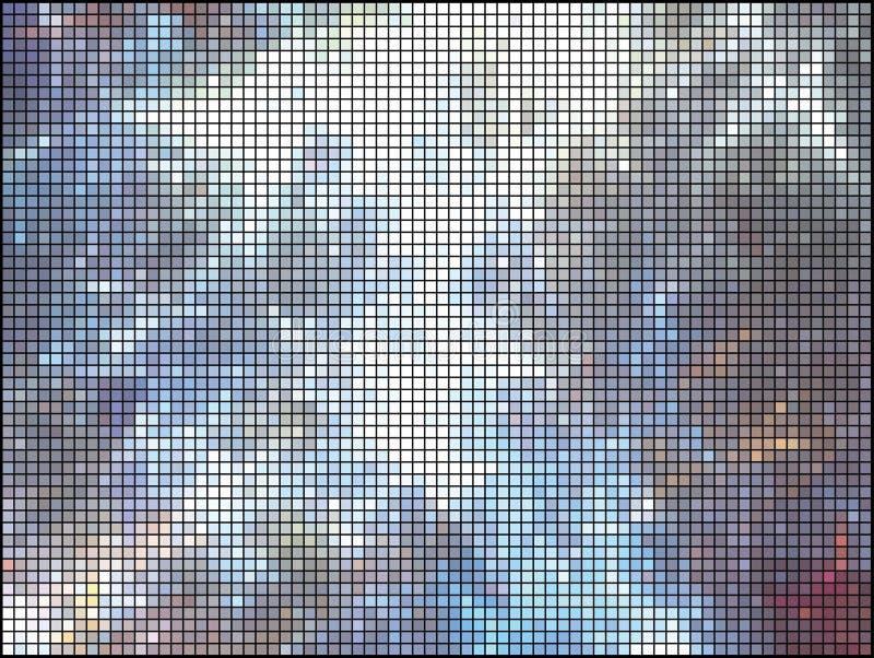 Priorità bassa multicolore delle mattonelle. illustrazione vettoriale