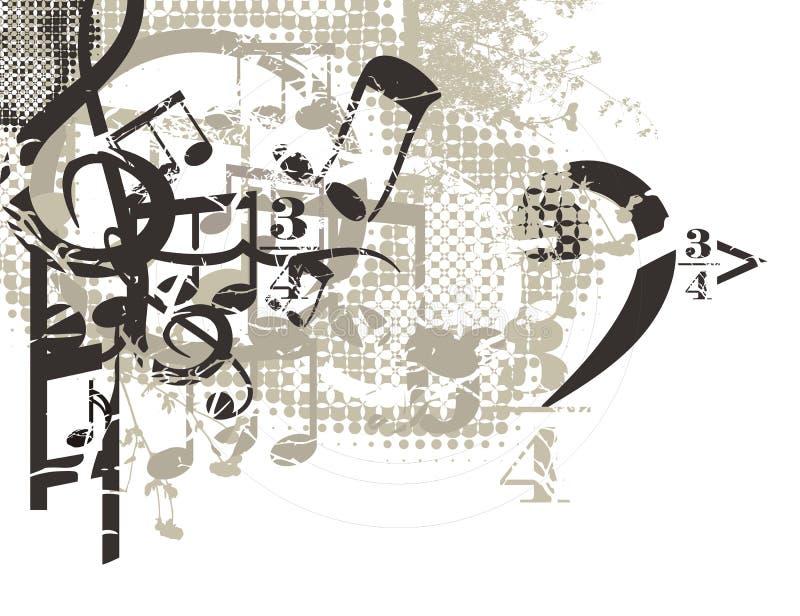 Priorità bassa musicale illustrazione vettoriale