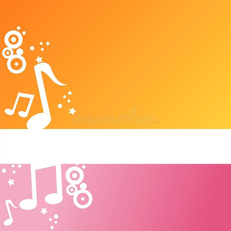 Priorità bassa musicale moderna illustrazione di stock