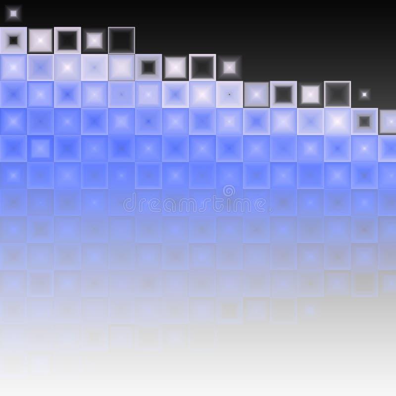 Priorità bassa nera bianca blu astratta royalty illustrazione gratis