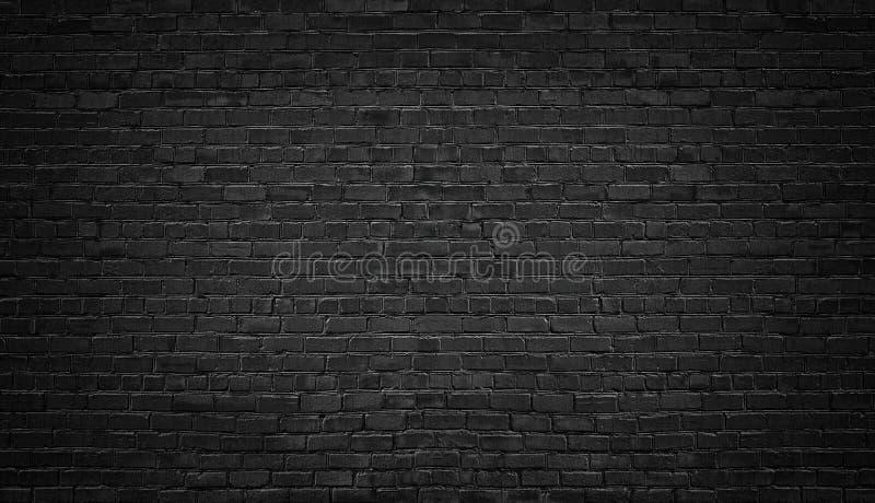 Priorità bassa nera del muro di mattoni muratura di buio di struttura fotografie stock libere da diritti