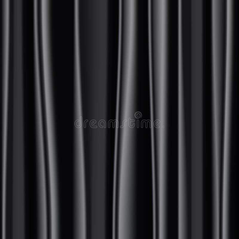 Priorità bassa nera del tessuto di seta illustrazione vettoriale