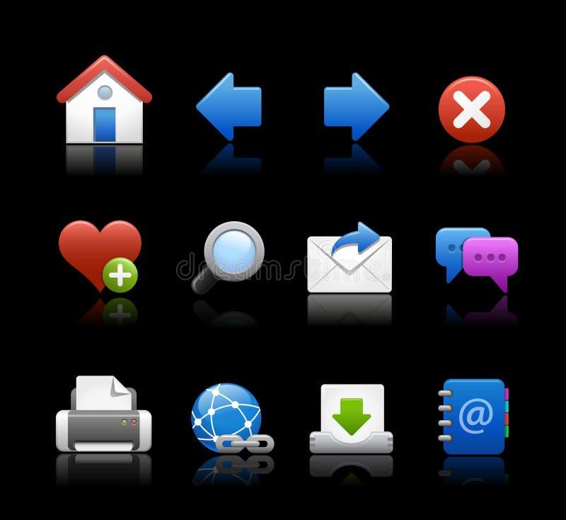 Priorità bassa nera di // delle icone di Web royalty illustrazione gratis