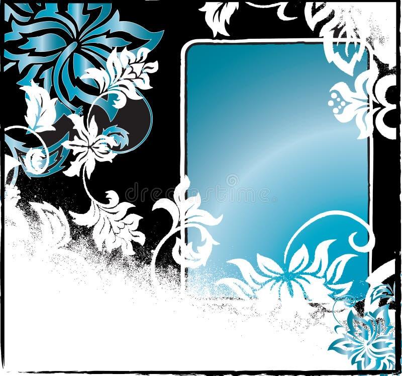 Priorità bassa nera e blu di Grunge illustrazione di stock