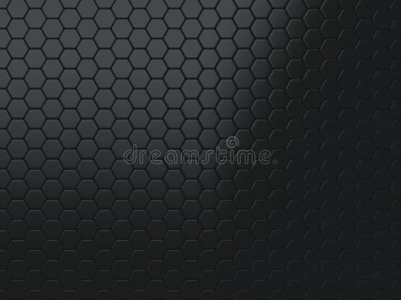 Priorità bassa nera metallica illustrazione di stock