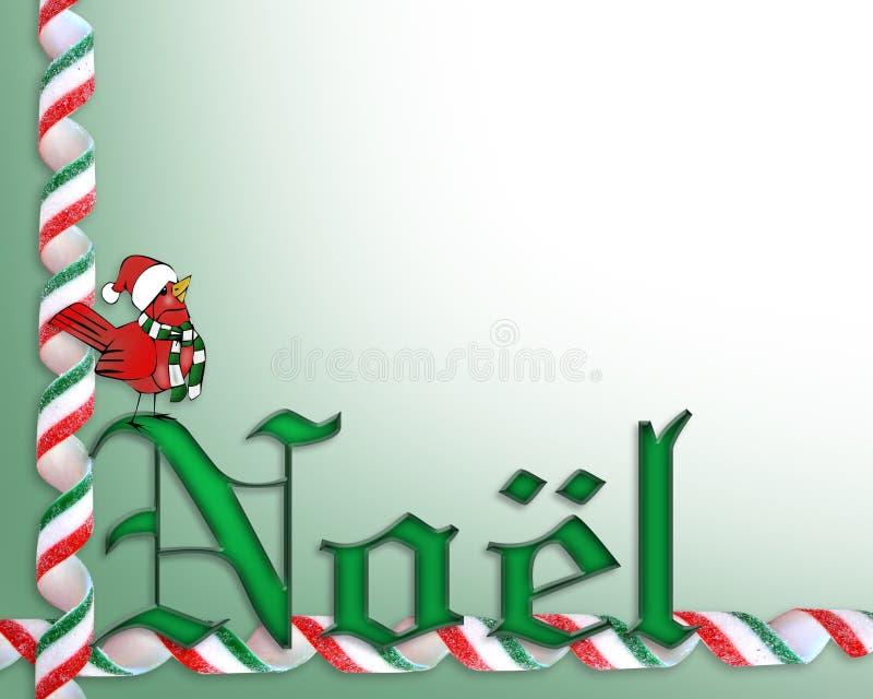 Priorità bassa Noel della cartolina di Natale illustrazione vettoriale