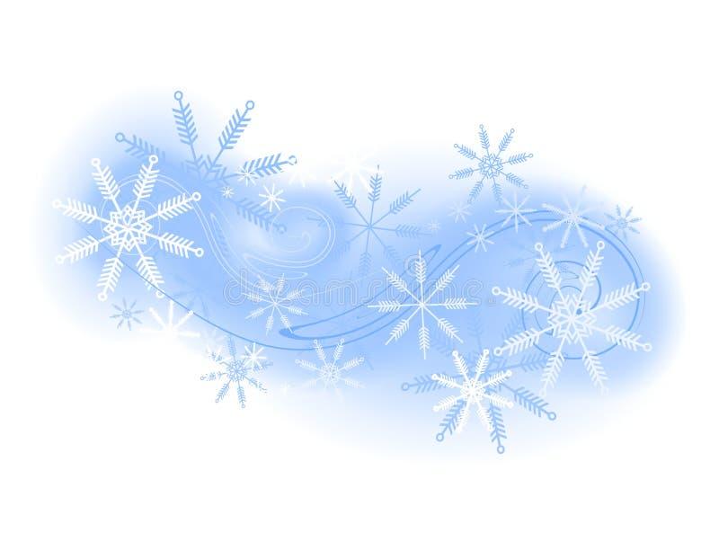 Priorità bassa o marchio del fiocco di neve illustrazione vettoriale