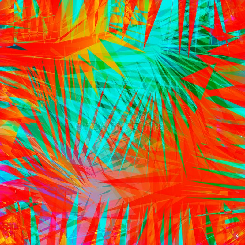 Priorità bassa ondulata variopinta astratta Sovrapposizione brillante di pendenza Manifesto luminoso, insegna, elemento di web de illustrazione vettoriale