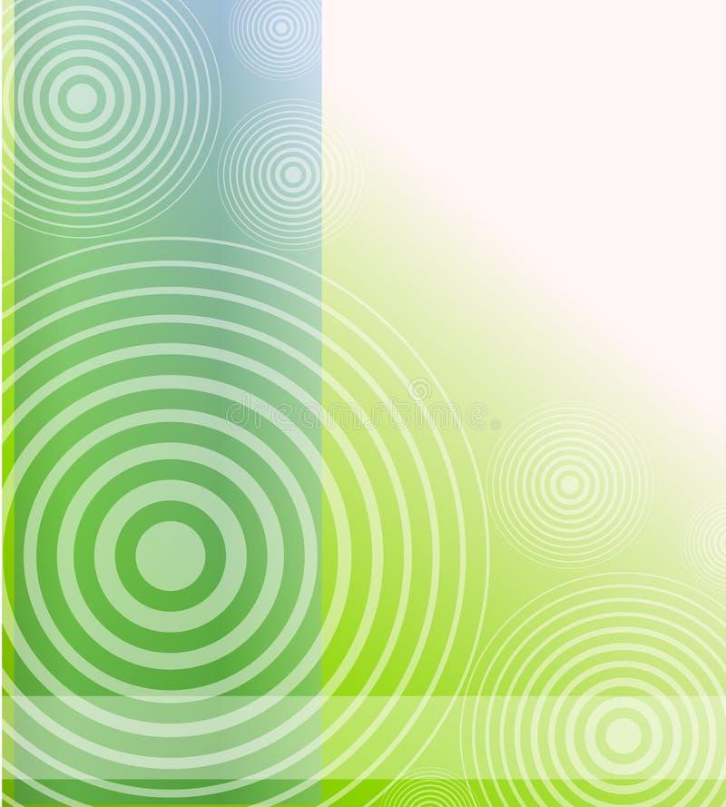 Priorità bassa opaca radiale di verde blu illustrazione di stock