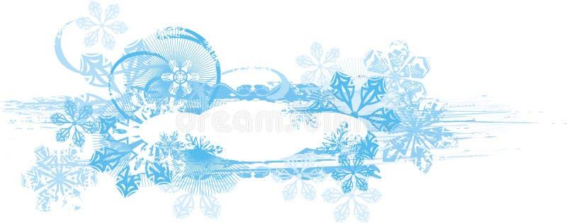 Priorità bassa ornamentale di inverno illustrazione vettoriale
