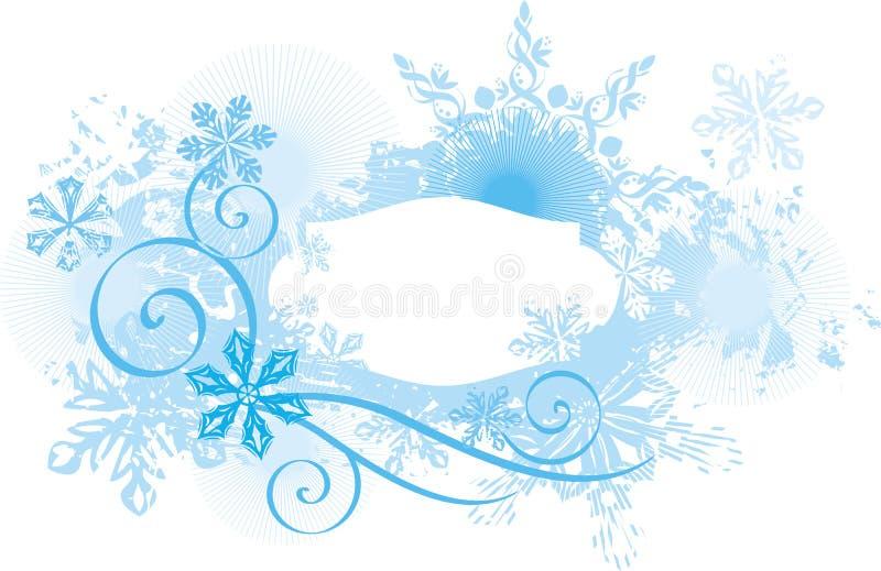 Priorità bassa ornamentale di inverno illustrazione di stock