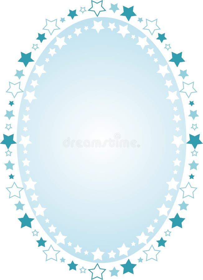 Priorità bassa ovale incorniciata con le stelle illustrazione vettoriale