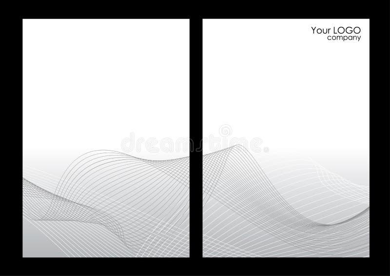 Priorità bassa, parte anteriore e parte posteriore astratte grige royalty illustrazione gratis