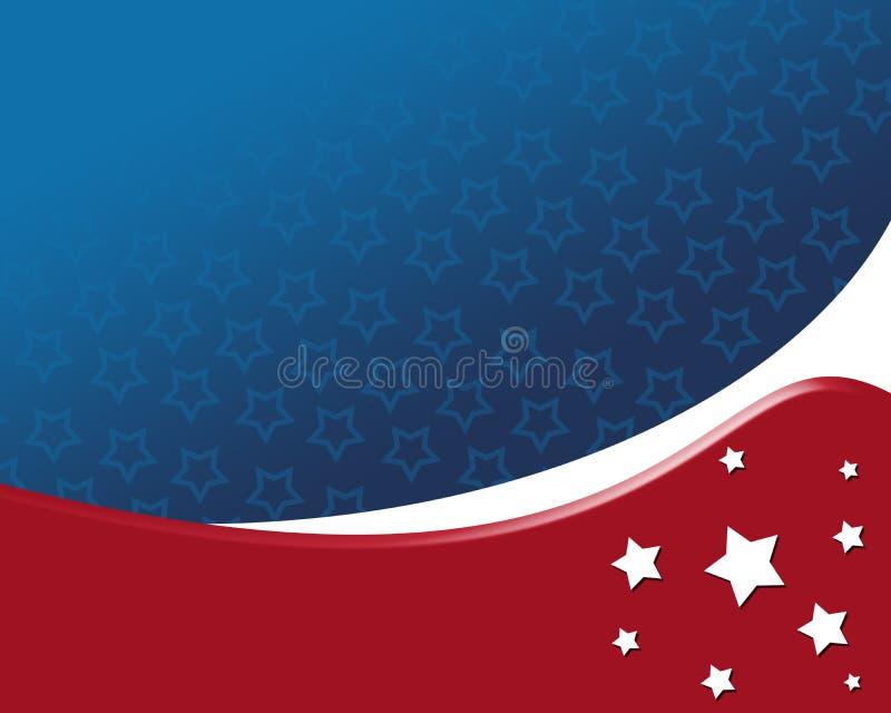 Priorità bassa patriottica americana illustrazione di stock