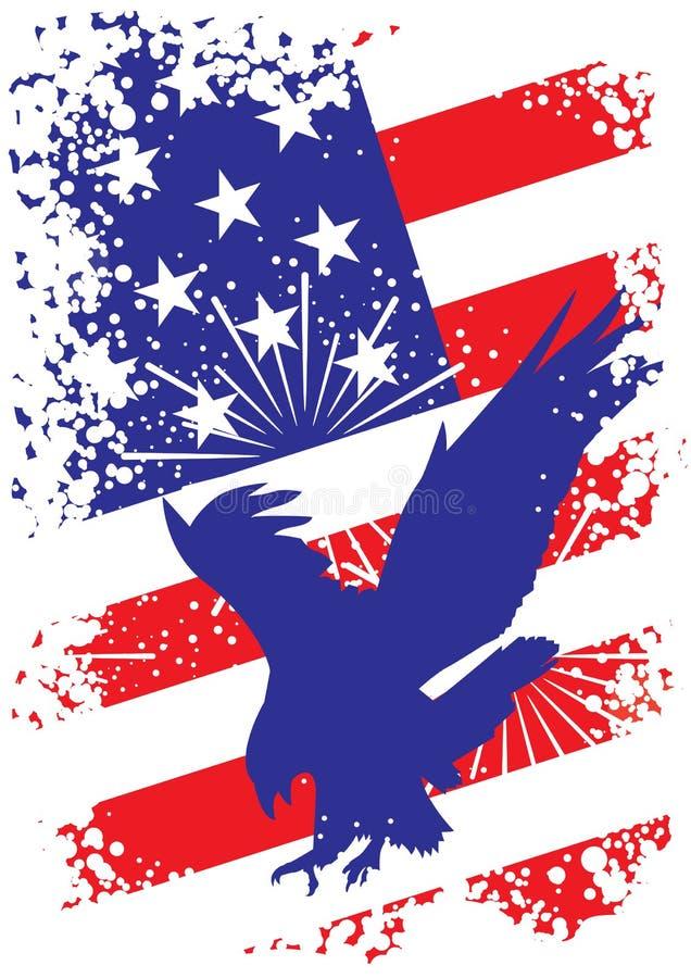Priorità bassa patriottica degli S.U.A. con l'aquila illustrazione di stock