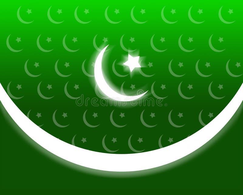 Priorità bassa patriottica del Pakistan illustrazione di stock