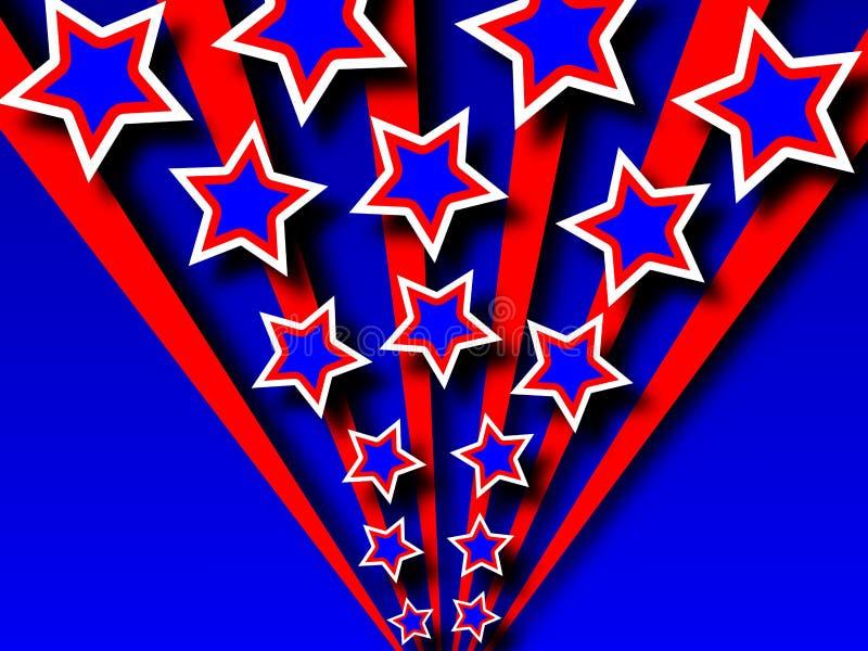 Priorità bassa patriottica dell'onda illustrazione vettoriale