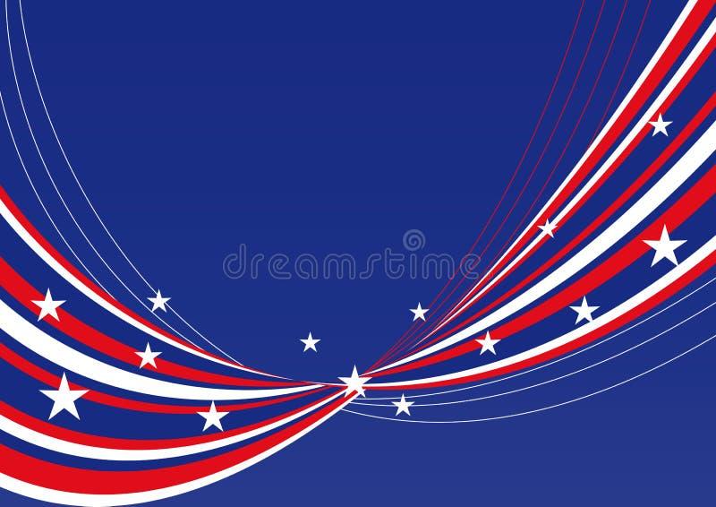 Priorità bassa patriottica - stelle e bande   fotografia stock