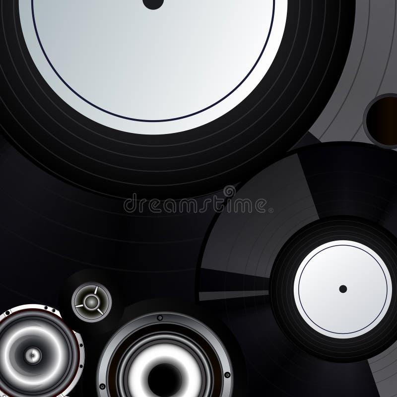 Priorità bassa record di musica fotografie stock libere da diritti
