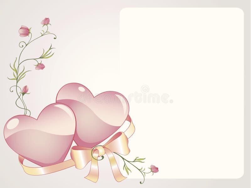 Priorità bassa romantica illustrazione vettoriale