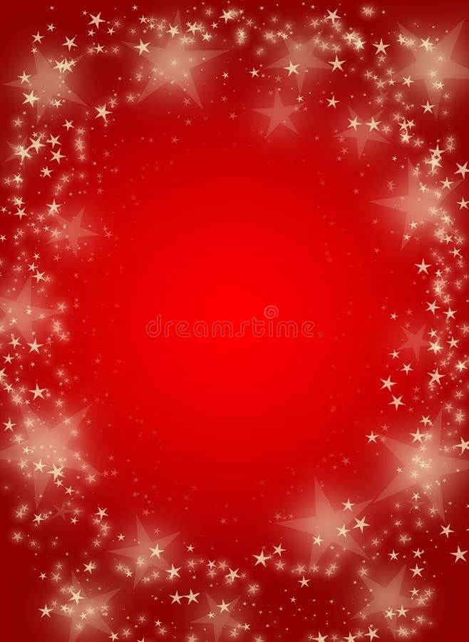 Priorità bassa rossa con le stelle royalty illustrazione gratis