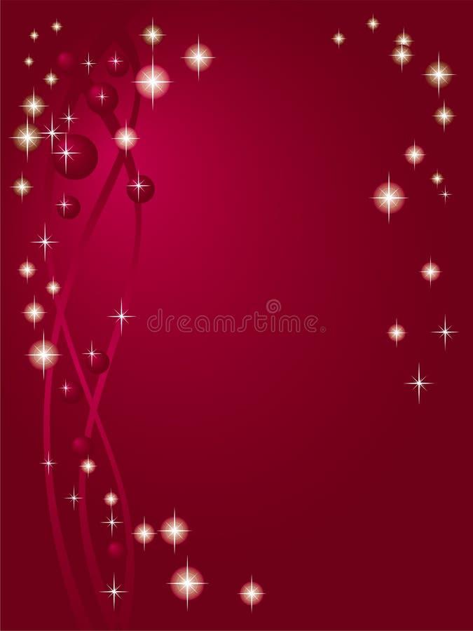 Priorità bassa rossa del Claret con le stelle illustrazione di stock