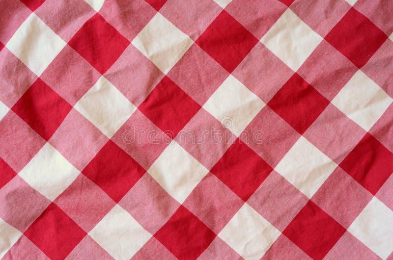 Priorità bassa rossa del materiale del plaid fotografia stock libera da diritti