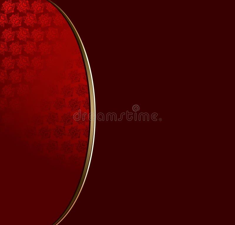 Priorità bassa rossa del merletto dell'oro royalty illustrazione gratis