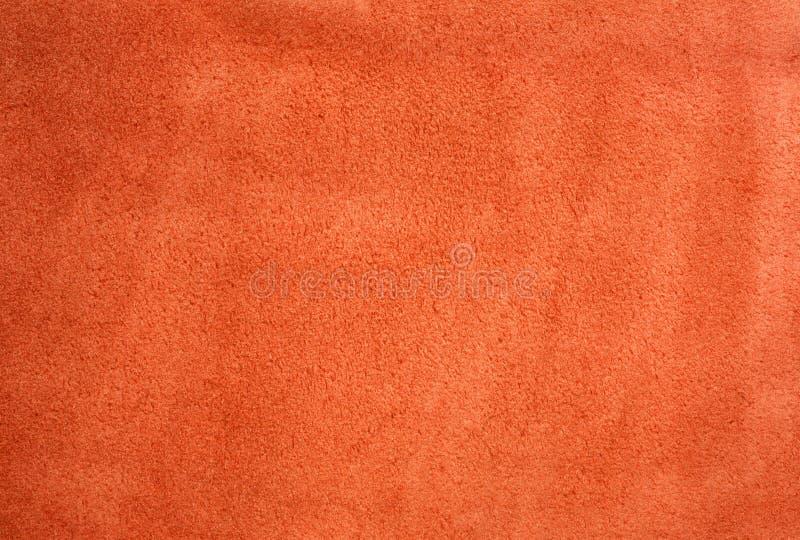 Priorità bassa rossa della pelle scamosciata fotografia stock