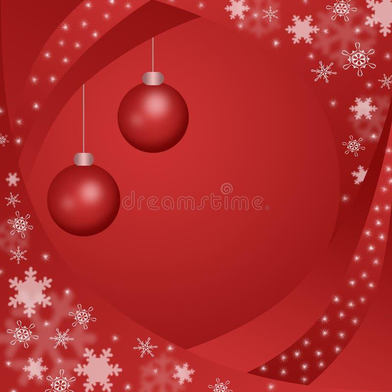 Priorità bassa rossa di inverno illustrazione di stock
