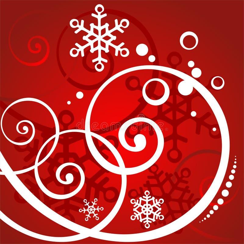 Priorità bassa rossa di inverno royalty illustrazione gratis