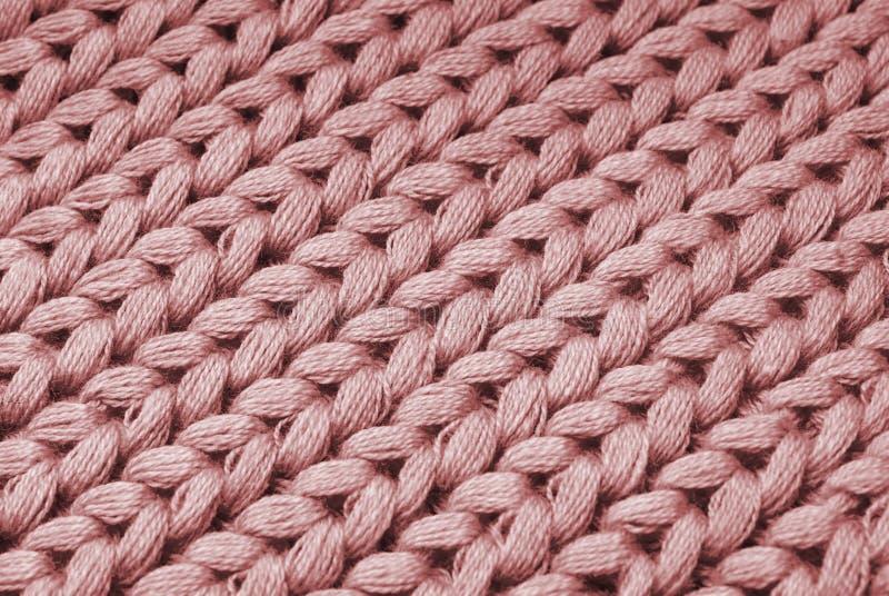 Priorità bassa rossa di macro del maglione immagini stock