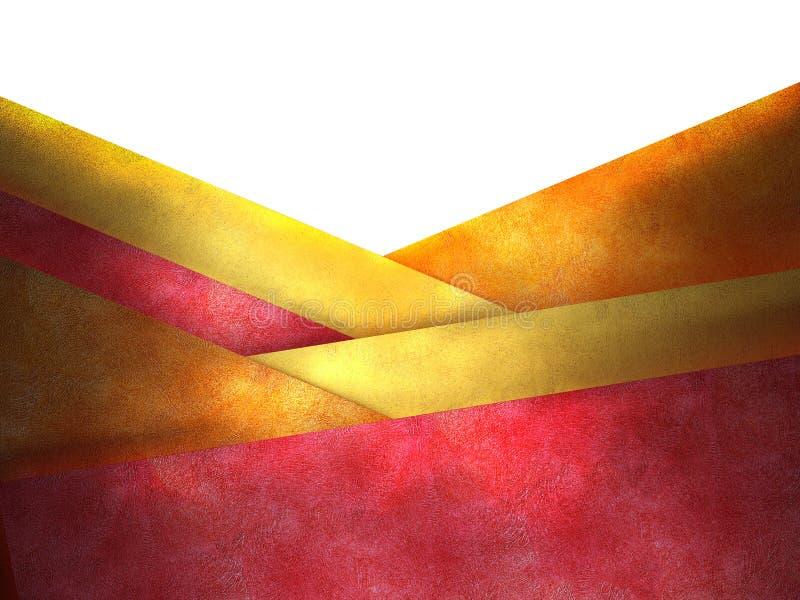 Priorità bassa rossa e gialla astratta. royalty illustrazione gratis