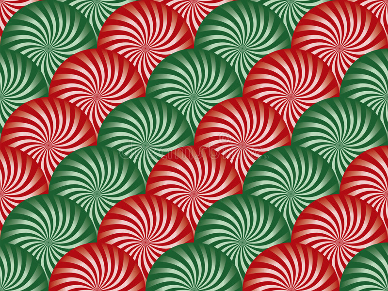 Priorità bassa rossa e verde della menta peperita royalty illustrazione gratis
