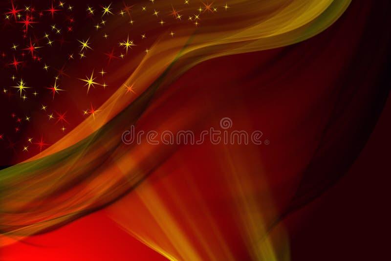 Priorità bassa rossa magica di inverno royalty illustrazione gratis