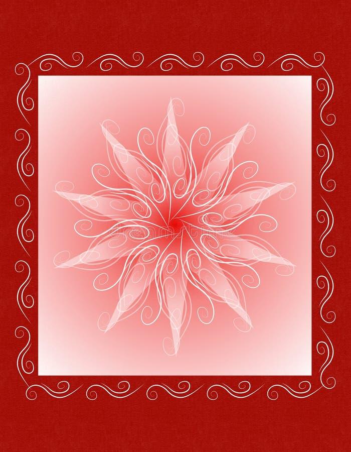 Priorità bassa rossa unica della cartolina di Natale royalty illustrazione gratis