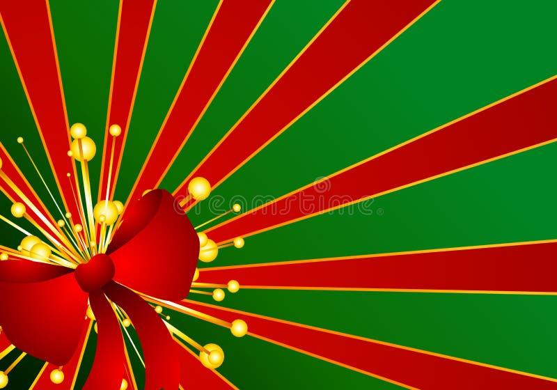 Priorità bassa rossa verde dell'arco del regalo di natale illustrazione di stock