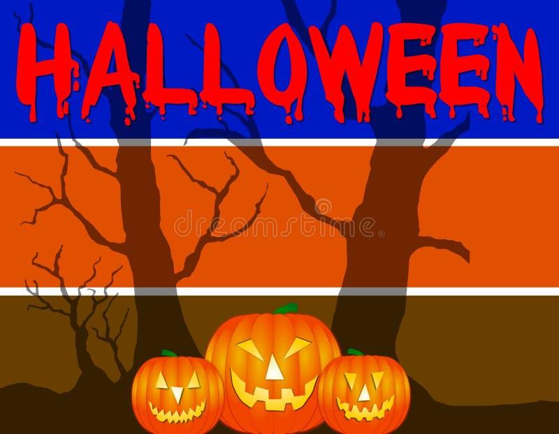 Priorità bassa sanguinante di Halloween illustrazione vettoriale