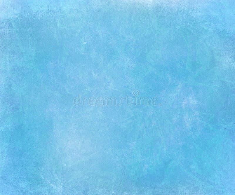 Priorità bassa sbavata di inchiostro gesso del documento handmade del cielo blu illustrazione di stock