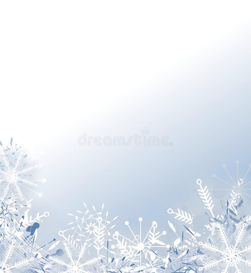Priorità bassa sbiadetta del fiocco di neve illustrazione di stock