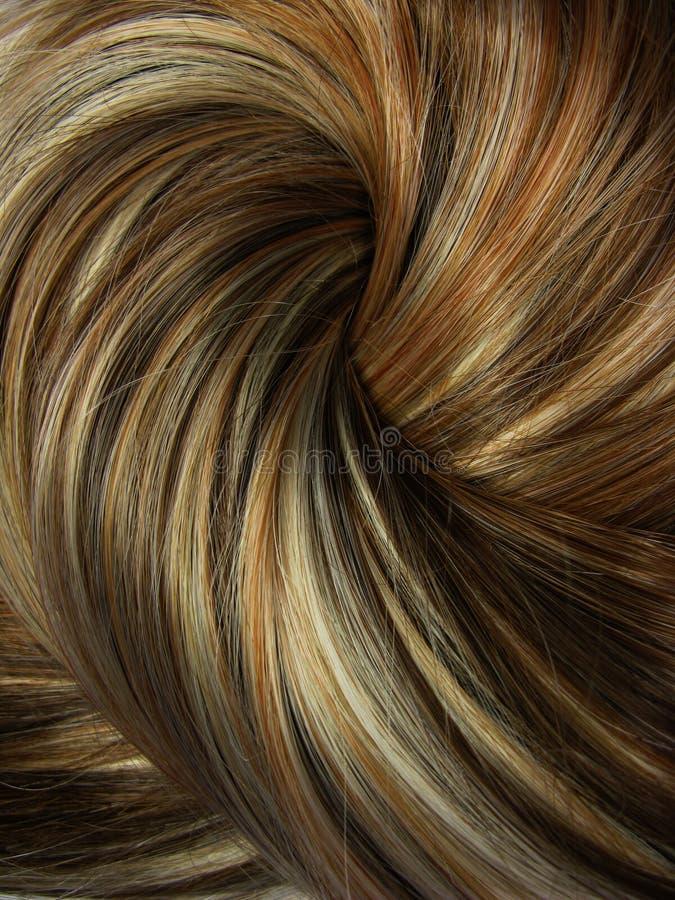 Priorità bassa scura di struttura dei capelli di punto culminante fotografia stock
